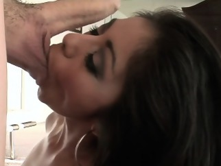 brunette blowjob indiansex